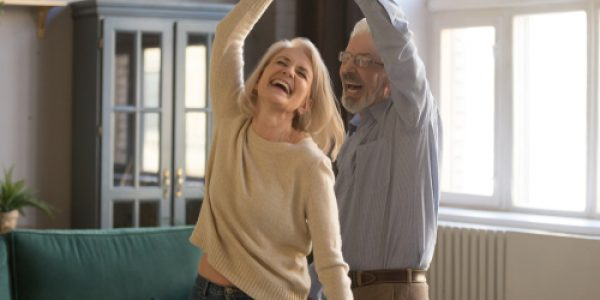 Overjoyed,Mature,Grey-haired,Caucasian,Husband,And,Wife,Have,Fun,Enjoy